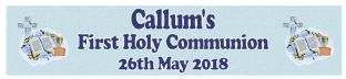 Personalised Boy First Communion Banner Design 2